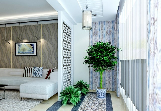 最有创意的客厅阳台装修设计效果图